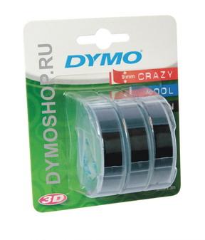 Лента для механических принтеров, ширина 9 мм, длина 3м, пластиковая черная, 3 шт. в блистере