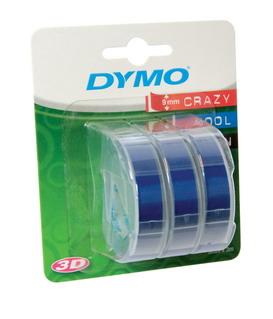 Лента для механических принтеров, ширина 9 мм, длина 3м, пластиковая синия, 3 шт. в блистере